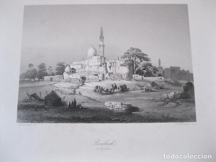 VISTA DE LA CIUDAD DE BULAQ, (EGIPTO, ÁFRICA), HACIA 1850. GEYER/PAYNE (Arte - Grabados - Modernos siglo XIX)