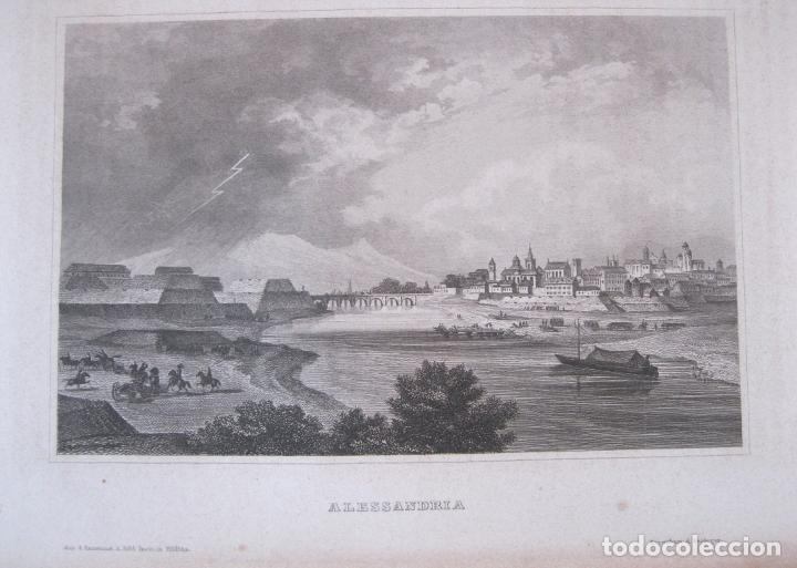 VISTA DE LA CIUDAD DE ALEJANDRÍA (EGIPTO, ÁFRICA), CIRCA 1850. INST. HILDBURGHAUSEN (Arte - Grabados - Modernos siglo XIX)