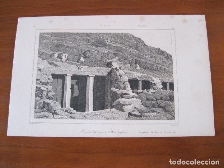 Arte: Tumba dórica de Beni-Hassan (Egipto), circa 1850. Cherubini/Cholet - Foto 2 - 260750740