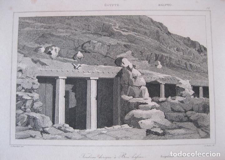 TUMBA DÓRICA DE BENI-HASSAN (EGIPTO), CIRCA 1850. CHERUBINI/CHOLET (Arte - Grabados - Modernos siglo XIX)