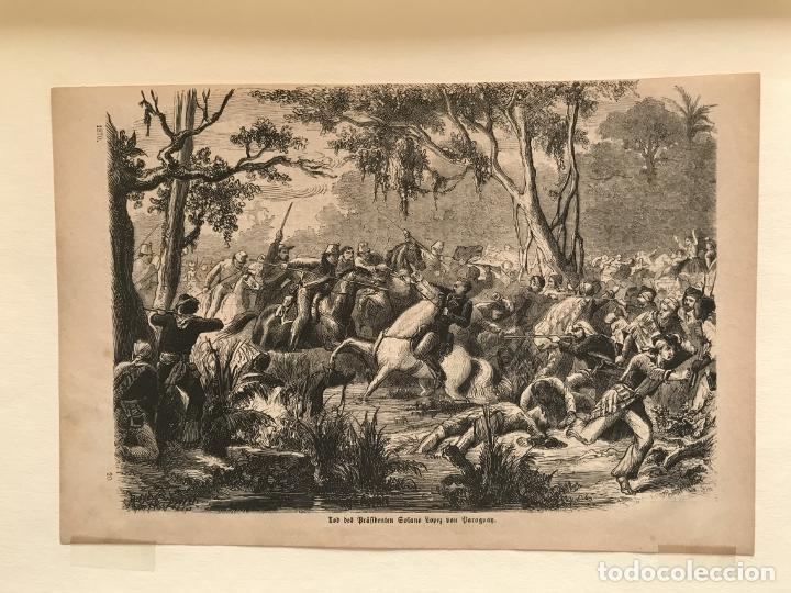 Arte: Batalla de la guerra de Paraguay, 1870. Anónimo - Foto 3 - 260752825