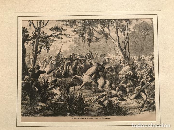 BATALLA DE LA GUERRA DE PARAGUAY, 1870. ANÓNIMO (Arte - Grabados - Modernos siglo XIX)