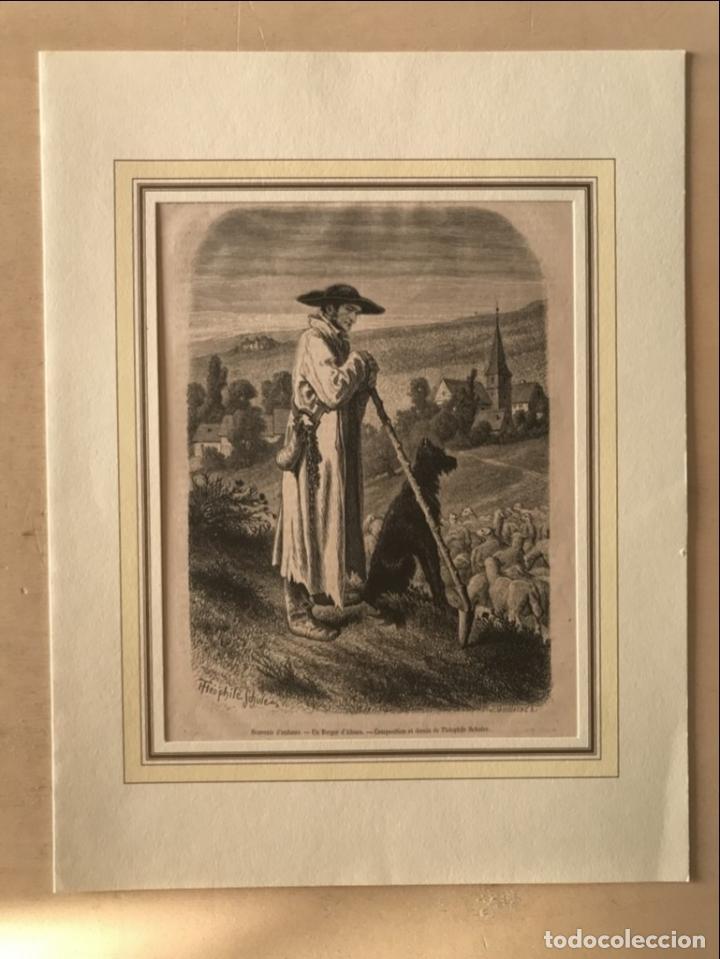 Arte: El pastor de ovejas, 1877. Schuler/Guillaume - Foto 2 - 260808730