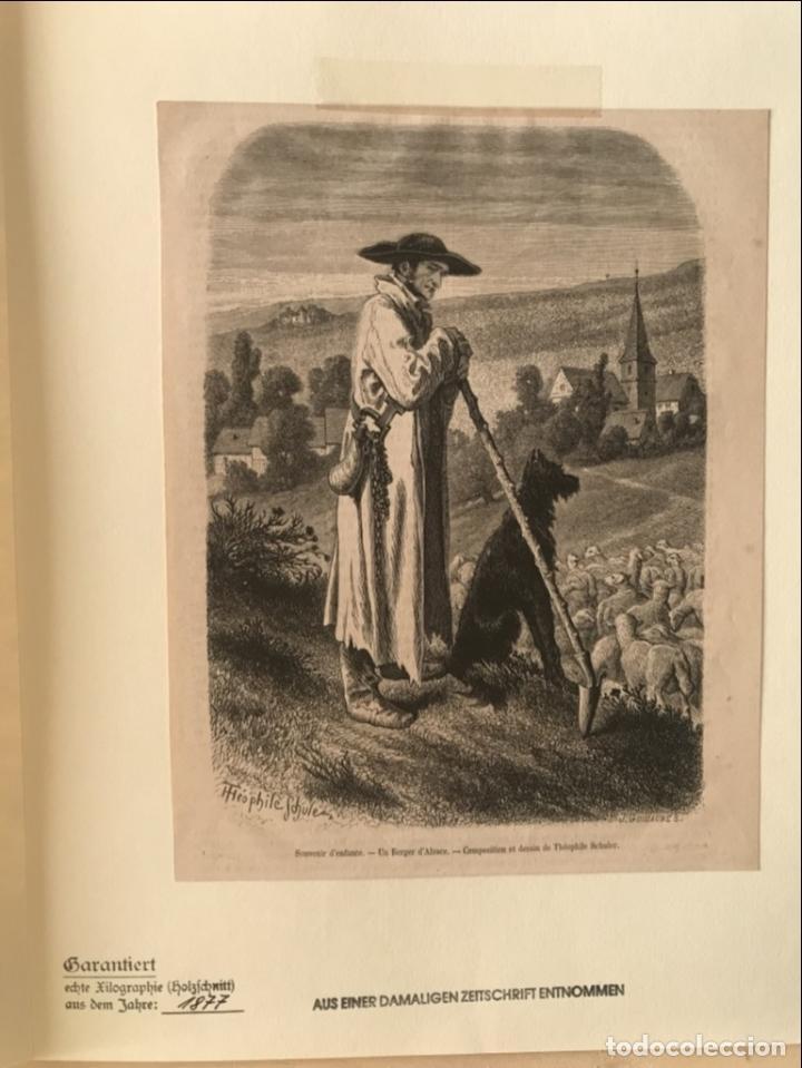 Arte: El pastor de ovejas, 1877. Schuler/Guillaume - Foto 3 - 260808730