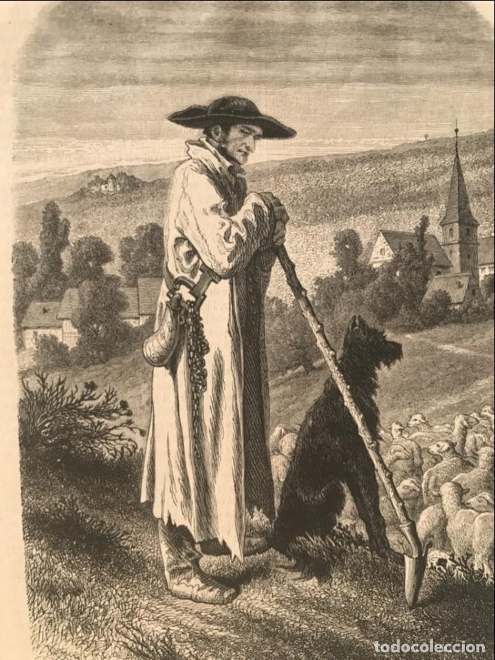 Arte: El pastor de ovejas, 1877. Schuler/Guillaume - Foto 4 - 260808730