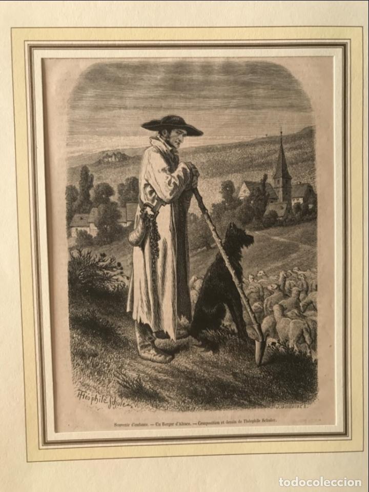 EL PASTOR DE OVEJAS, 1877. SCHULER/GUILLAUME (Arte - Grabados - Modernos siglo XIX)