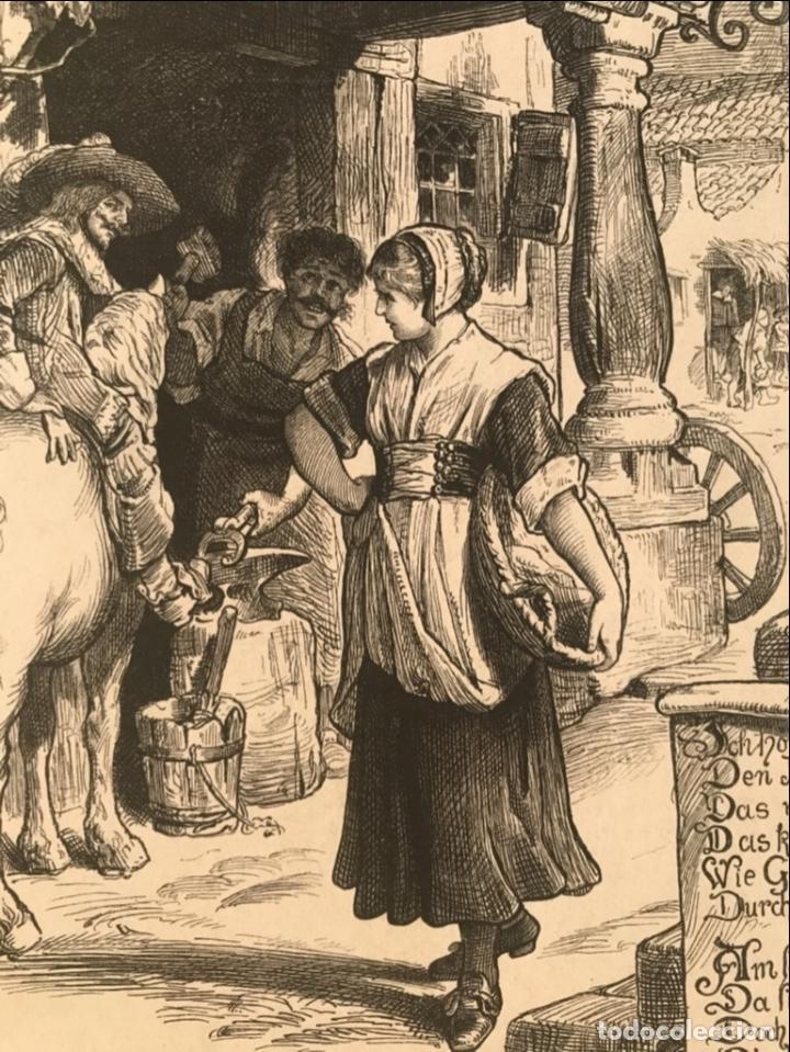 Arte: Herrero, jinete y doncella, 1880 - Foto 5 - 260814145