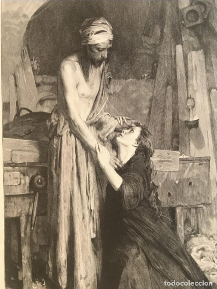 Arte: Jesucristo y María Magdalena, 1890. R. Bonc - Foto 4 - 260820255