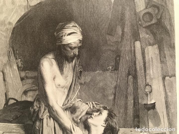 Arte: Jesucristo y María Magdalena, 1890. R. Bonc - Foto 5 - 260820255