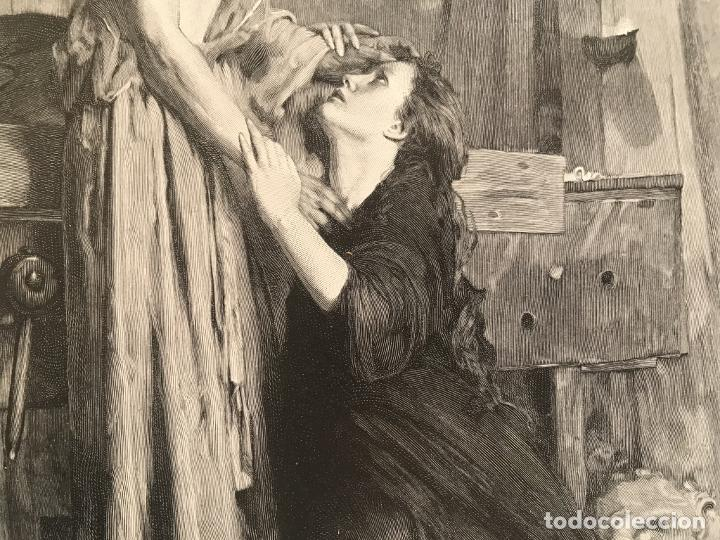 Arte: Jesucristo y María Magdalena, 1890. R. Bonc - Foto 6 - 260820255