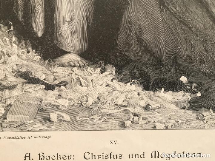 Arte: Jesucristo y María Magdalena, 1890. R. Bonc - Foto 7 - 260820255