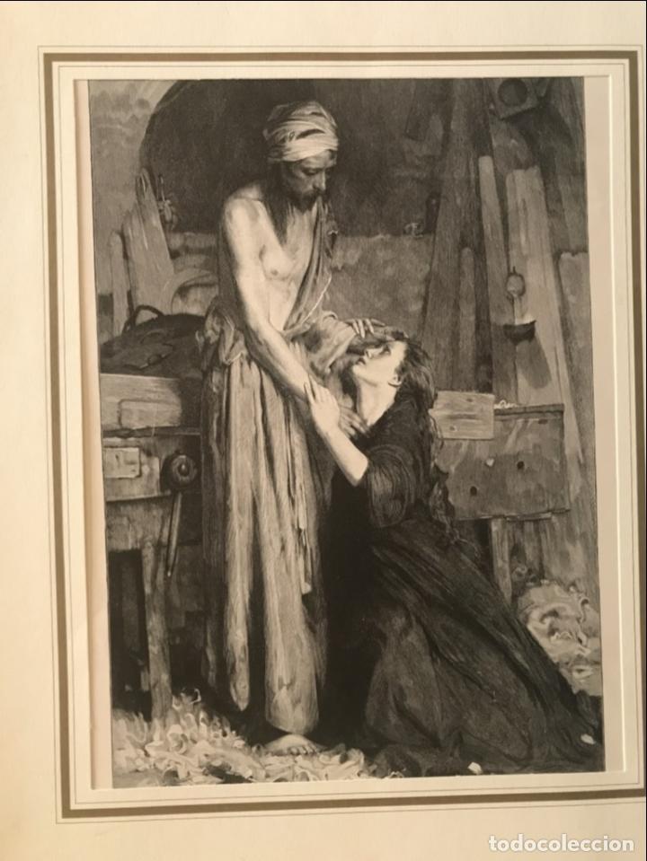 JESUCRISTO Y MARÍA MAGDALENA, 1890. R. BONC (Arte - Grabados - Modernos siglo XIX)