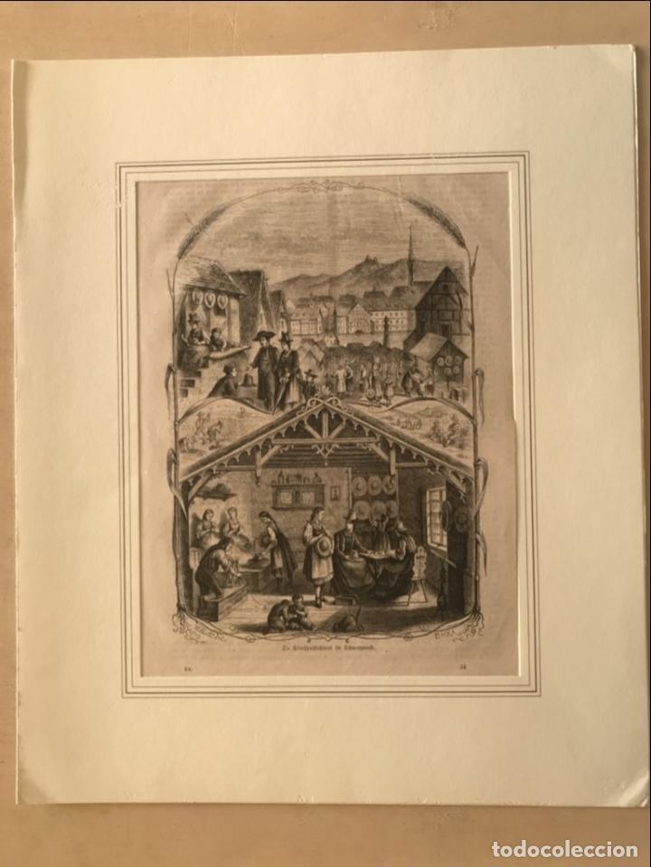 Arte: Escenas de pueblo y campo, 1864. Yellerte/E.H.X.A - Foto 2 - 260822630