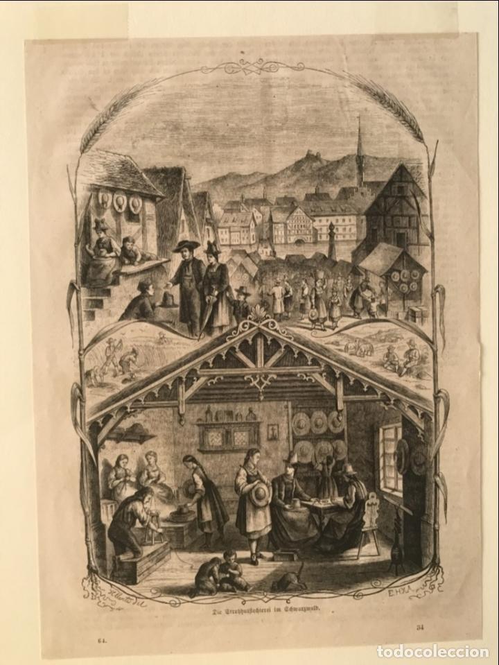 Arte: Escenas de pueblo y campo, 1864. Yellerte/E.H.X.A - Foto 4 - 260822630