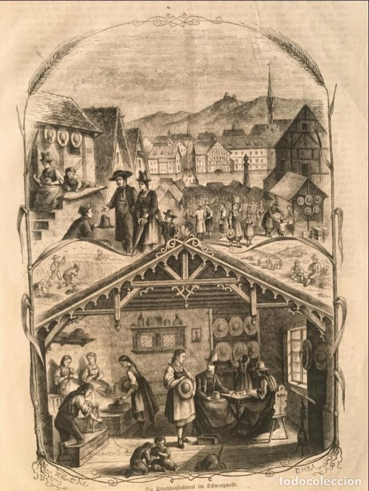 Arte: Escenas de pueblo y campo, 1864. Yellerte/E.H.X.A - Foto 5 - 260822630