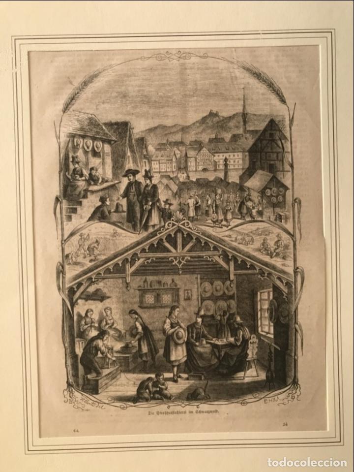 ESCENAS DE PUEBLO Y CAMPO, 1864. YELLERTE/E.H.X.A (Arte - Grabados - Modernos siglo XIX)