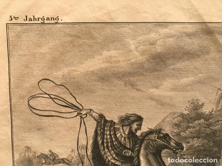 Arte: Caza del jaguar en Paraguay (América del sur), 1832. Baumann - Foto 5 - 260831345