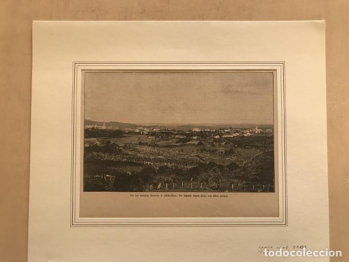 Arte: Vista de Santa Cruz en Rio Grande do Sul (Brasil, América del sur), 1889. Anónimo - Foto 2 - 260833910