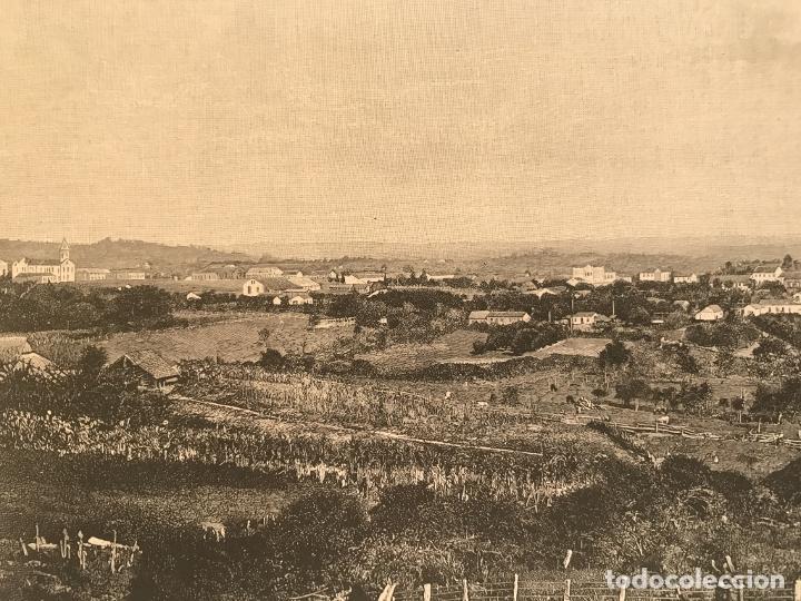 Arte: Vista de Santa Cruz en Rio Grande do Sul (Brasil, América del sur), 1889. Anónimo - Foto 5 - 260833910