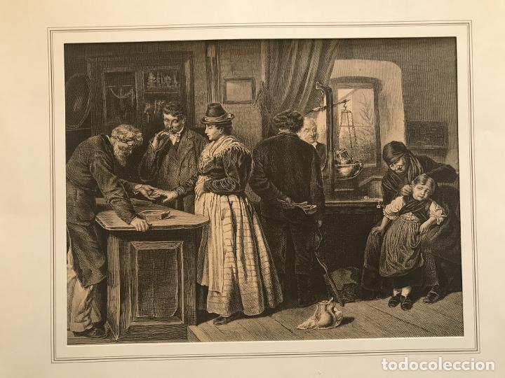 LOS ORFEBRES Y SUS CLIENTES, 1879. F. SCHELESINGER (Arte - Grabados - Modernos siglo XIX)