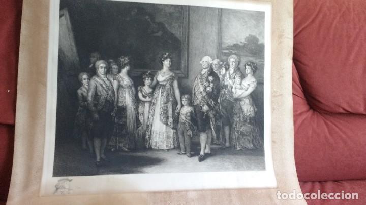FAMILIA DE CARLOS IV GRABADO DE BARTOLOMÉ MAURA Y MONTANER (Arte - Grabados - Modernos siglo XIX)