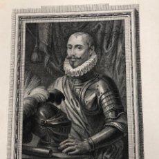 Arte: GRABADO DON SANCHO DE AVILA. ALMIRANTE DE LA ARMADA EN FLANDES. AÑO 1791. Lote 261225025