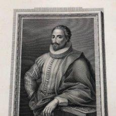Arte: GRABADO MIGUEL DE CERVANTES SAAVEDRA. AÑO 1791. Lote 261225655