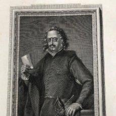 Arte: GRABADO D. FRANCISCO DE QUEVEDO Y VILLEGAS. AÑO 1791. Lote 261226600