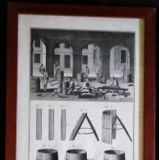 Arte: GRABADO A BURIL / * TONNELIER-TONEL *. PROCESO DE FABRICACIÓN. (PL. I). GRABADOR; BENARD. (S. XIX).. Lote 261248495