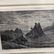 Arte: GUSTAVO DORÉ. GRANADA SERENATA. CIRCA 1864. CON PASPARTÚ. 30X40 CM.. Lote 261248290