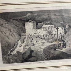 Arte: GUSTAVO DORÉ. GRANADA TORRES BERMEJAS. CIRCA 1865. CON PASPARTÚ. 30X40 CM.. Lote 261248530