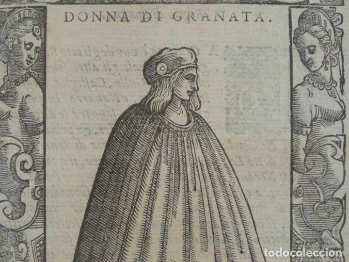 Arte: Mujer de Granada (Andalucía, España), 1590. Vecellio/Krieger/Zenaro - Foto 2 - 261544500