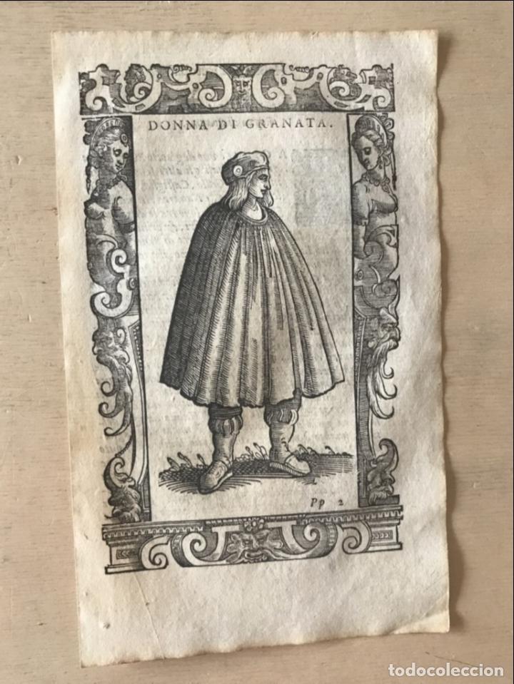 Arte: Mujer de Granada (Andalucía, España), 1590. Vecellio/Krieger/Zenaro - Foto 4 - 261544500