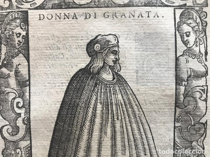 Arte: Mujer de Granada (Andalucía, España), 1590. Vecellio/Krieger/Zenaro - Foto 6 - 261544500
