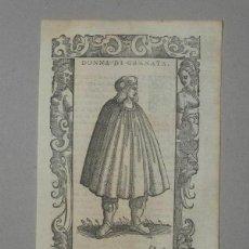 Arte: MUJER DE GRANADA (ANDALUCÍA, ESPAÑA), 1590. VECELLIO/KRIEGER/ZENARO. Lote 261544500