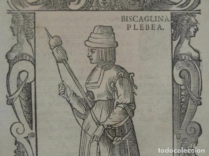 Arte: Xilografía de mujer plebeya de Vizcaya (España), 1590. Vecellio/Krieger/Zenaro - Foto 2 - 261590820
