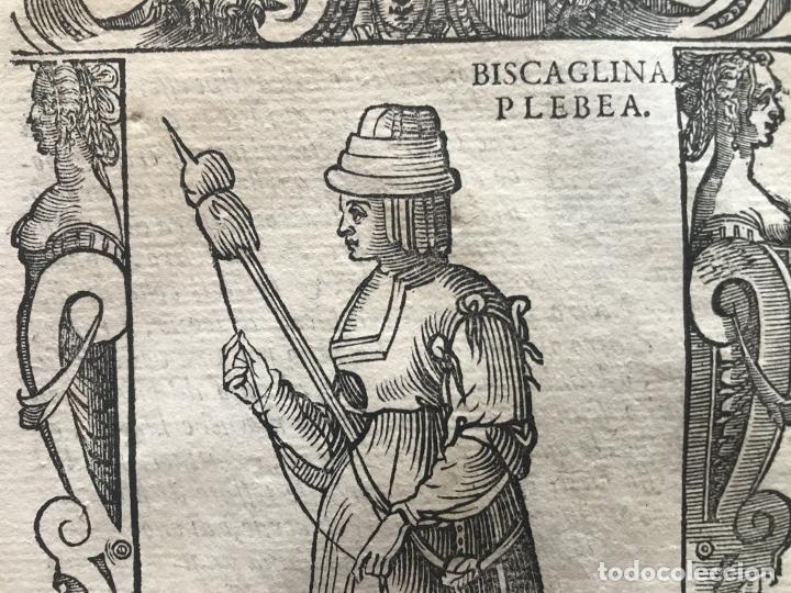 Arte: Xilografía de mujer plebeya de Vizcaya (España), 1590. Vecellio/Krieger/Zenaro - Foto 6 - 261590820