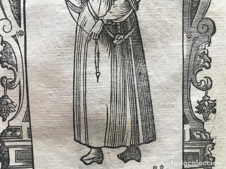 Arte: Xilografía de mujer plebeya de Vizcaya (España), 1590. Vecellio/Krieger/Zenaro - Foto 7 - 261590820