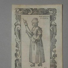Arte: XILOGRAFÍA DE MUJER PLEBEYA DE VIZCAYA (ESPAÑA), 1590. VECELLIO/KRIEGER/ZENARO. Lote 261590820