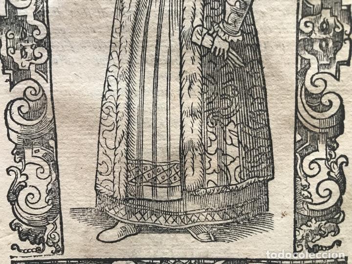 Arte: Xilografía de mujer de Bilbao en Vizcaya (España), 1590. Vecellio/Krieger/Zenaro - Foto 7 - 261597215