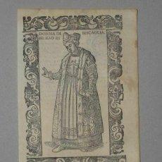 Arte: XILOGRAFÍA DE MUJER DE BILBAO EN VIZCAYA (ESPAÑA), 1590. VECELLIO/KRIEGER/ZENARO. Lote 261597215