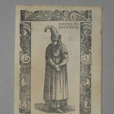 Arte: XILOGRAFÍA DE MUJER VIZCAYA (ESPAÑA), 1590. VECELLIO/KRIEGER/ZENARO. Lote 261600365