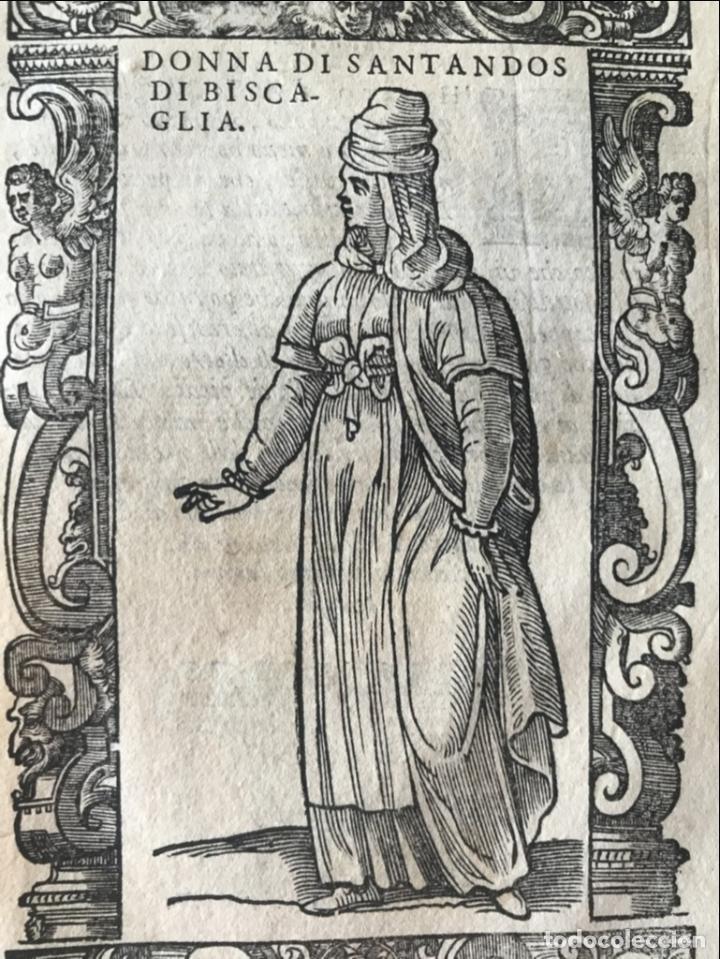 Arte: Xilografía de mujer de Santander ( Cantabria, España), 1590. Vecellio/Krieger/Zenaro - Foto 5 - 261602910