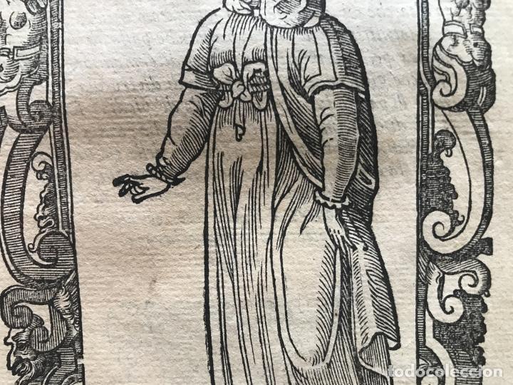Arte: Xilografía de mujer de Santander ( Cantabria, España), 1590. Vecellio/Krieger/Zenaro - Foto 7 - 261602910
