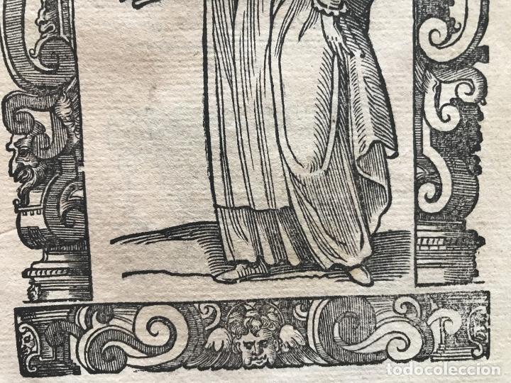 Arte: Xilografía de mujer de Santander ( Cantabria, España), 1590. Vecellio/Krieger/Zenaro - Foto 8 - 261602910