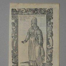 Arte: XILOGRAFÍA DE MUJER DE SANTANDER ( CANTABRIA, ESPAÑA), 1590. VECELLIO/KRIEGER/ZENARO. Lote 261602910