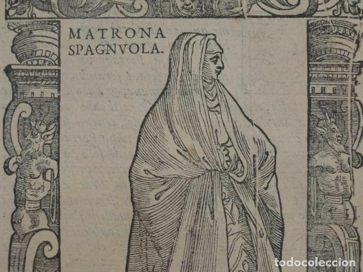 Arte: Xilografía matrona de España, 1590. Vecellio/Krieger/Zenaro - Foto 2 - 261611460