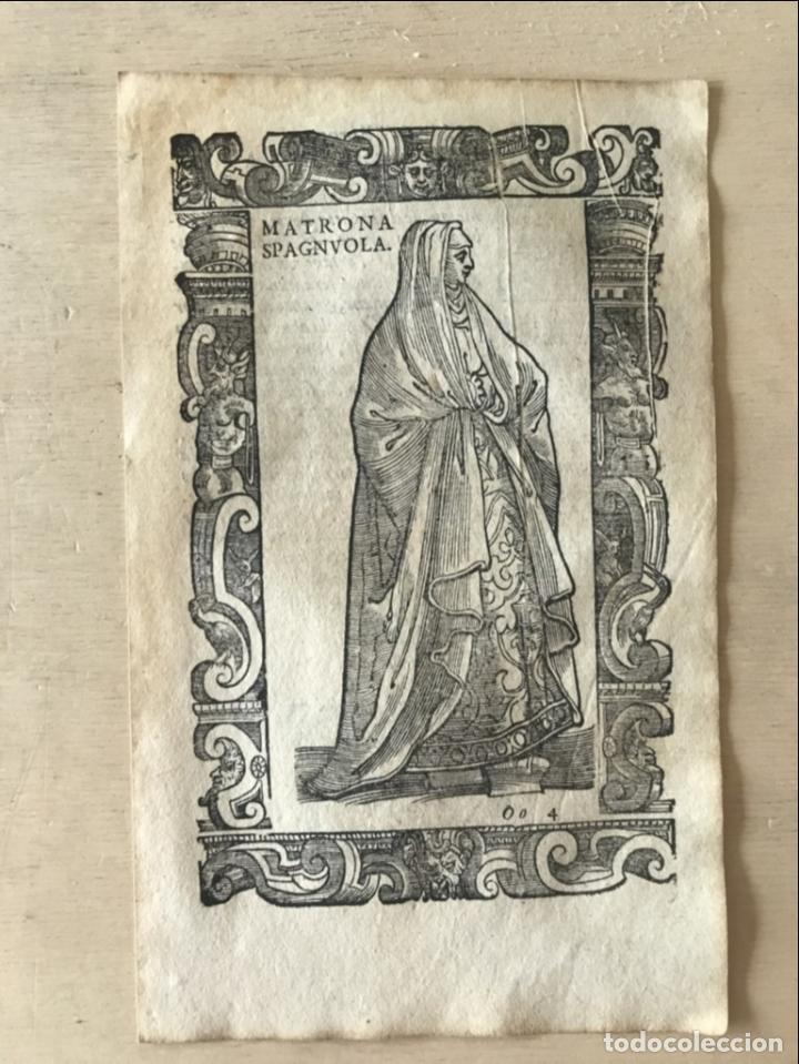 Arte: Xilografía matrona de España, 1590. Vecellio/Krieger/Zenaro - Foto 4 - 261611460