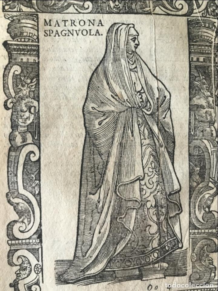 Arte: Xilografía matrona de España, 1590. Vecellio/Krieger/Zenaro - Foto 5 - 261611460
