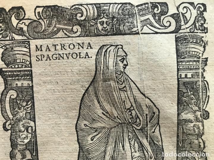 Arte: Xilografía matrona de España, 1590. Vecellio/Krieger/Zenaro - Foto 6 - 261611460